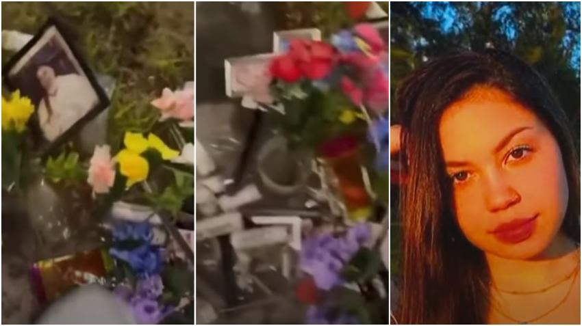 Alguien destruye y orina el monumento conmemorativo de las 4 víctimas del accidente del día de Año Nuevo en Miami