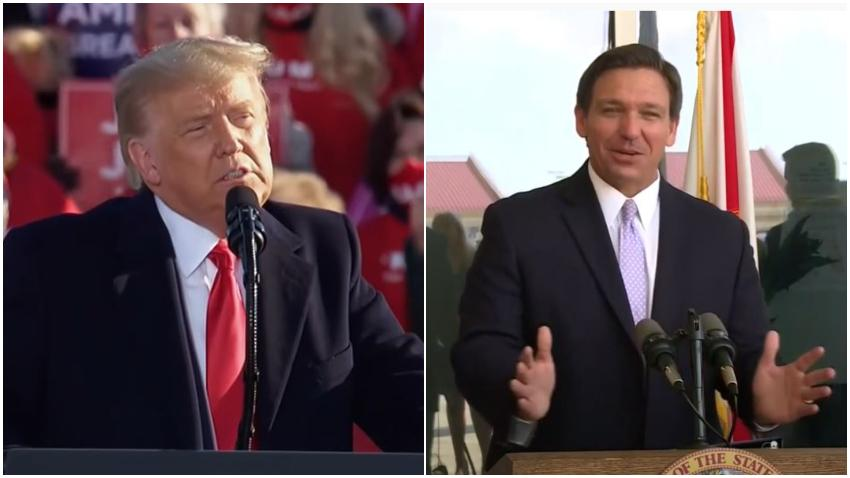 Ex presidente Trump dijo que considerará al gobernador de Florida Ron DeSantis como candidato a vicepresidente en el 2024