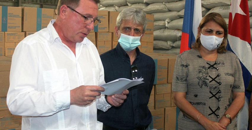 Moscú dona a La Habana $1 millón en suministros alimenticios para las personas más vulnerables por el Covid-19