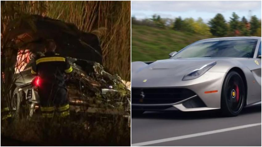 Encuentran hombre muerto tras un accidente con un Ferrari en el Sur de la Florida