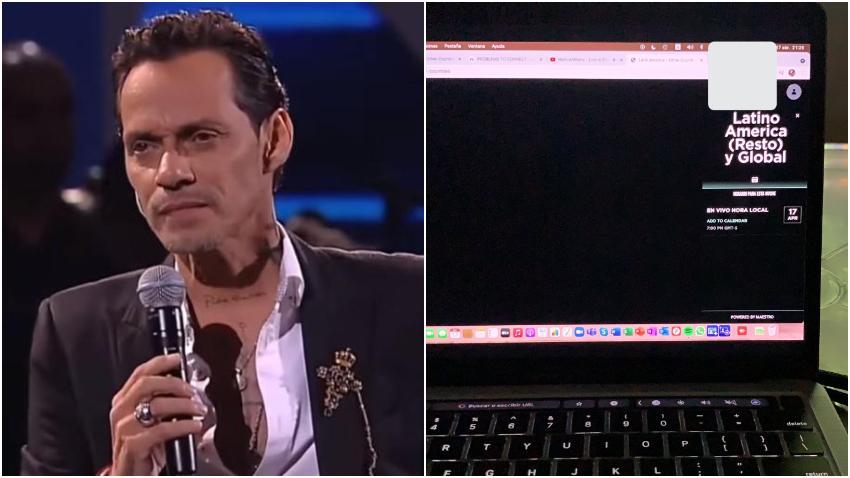 Problemas técnicos demoran el concierto virtual de Marc Anthony desde Miami