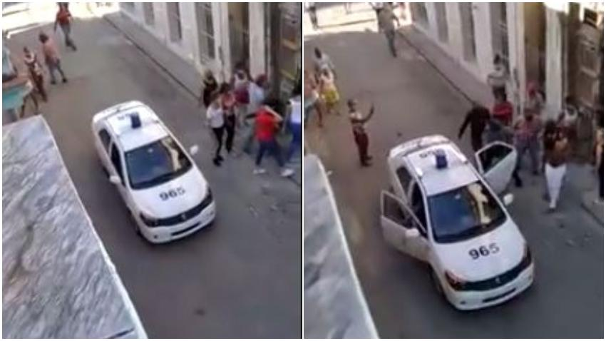 Captado en cámara el momento en que agentes de la seguridad del estado asaltan la sede del Movimiento San Isidro