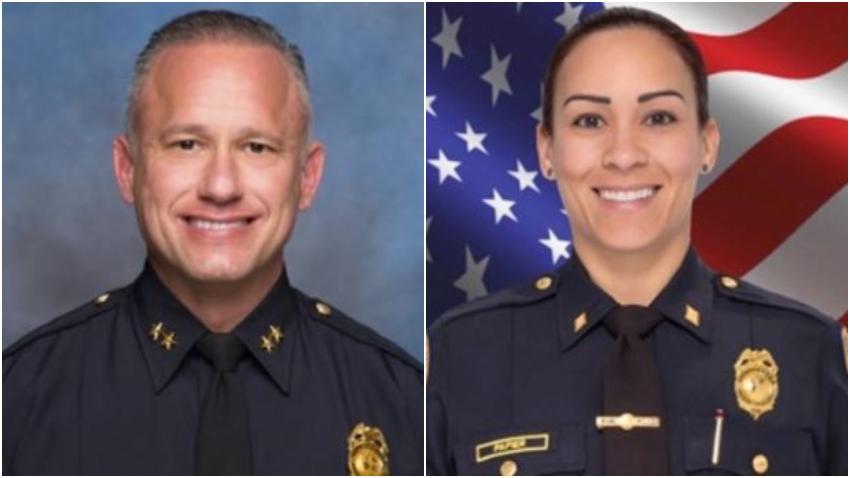 Segundo jefe de la policía de Miami y su esposa Comandante de la policía suspendidos por una investigación de asuntos internos