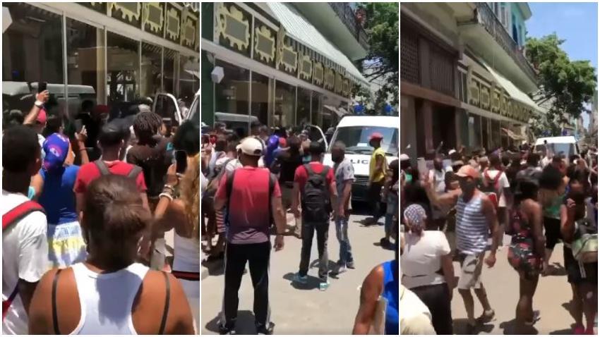 Imágenes de la protesta en La Habana de cubanos cansados del abuso
