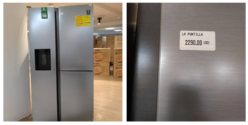 El precio de un refrigerador en Cuba en una tienda en MLC: 2.290 dólares