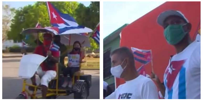El régimen organiza caravanas contra el embargo en Cuba, en pleno auge de la pandemia