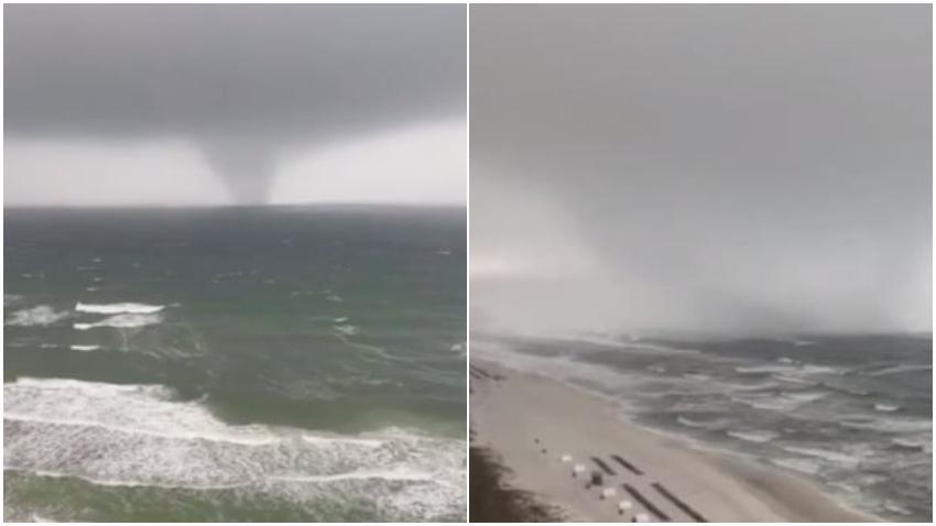 Tromba marina cerca de Panama City en Florida queda captada en cámara