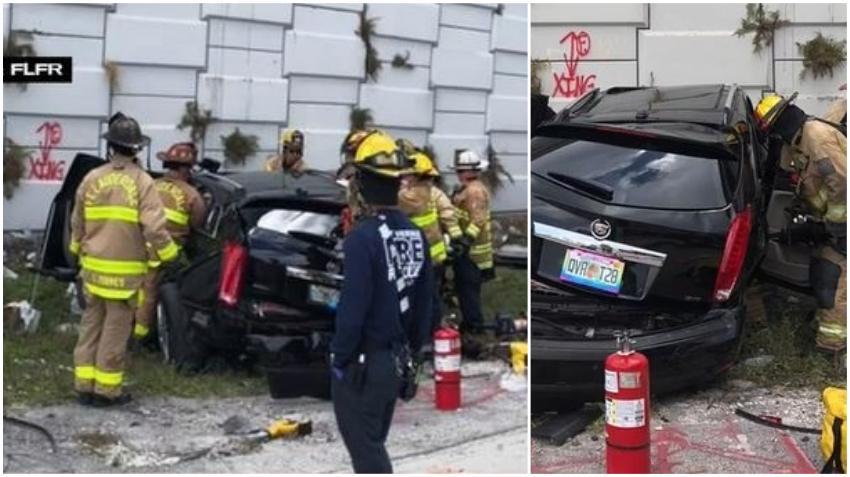 Un carro cae de la I-95; dos personas resultan heridas