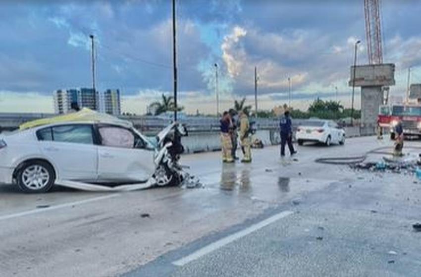 Hombre muere tras accidente por ir contrario en la carretera 836 en Miami