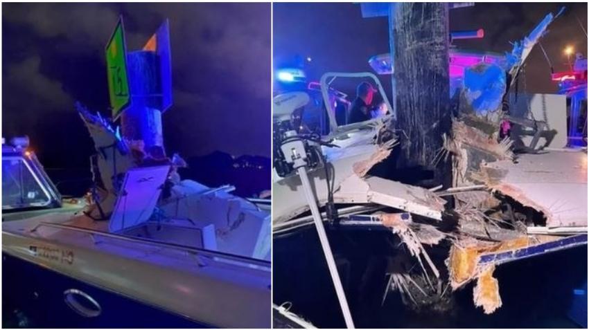 Dos hospitalizados de gravedad después de que un barco golpeara un marcador de canal en la Intracoastal en Miami
