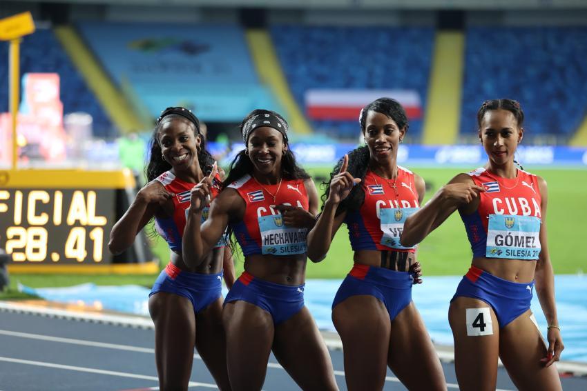 Cubanas ganan el oro en el Campeonato Mundial de Relevo