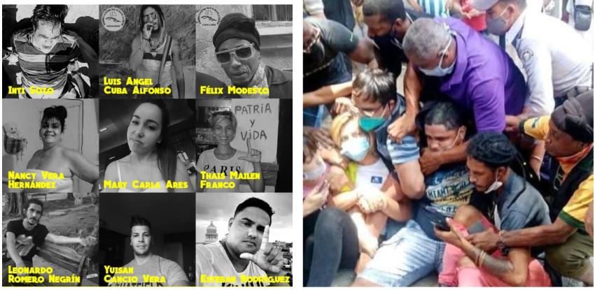 Continúan detenidos los activistas cubanos que protestaron pacíficamente el pasado viernes en la calle Obispo