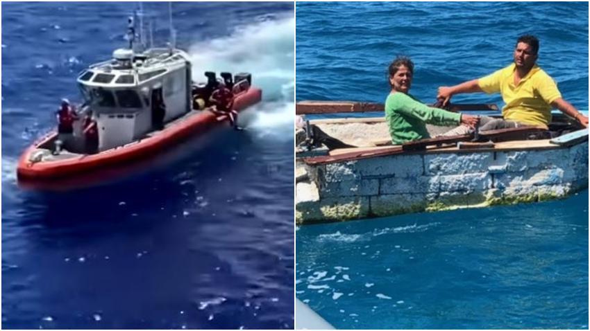 Guardia Costera de Estados Unidos detiene a 2 balseros cubanos cerca de los Cayos de la Florida