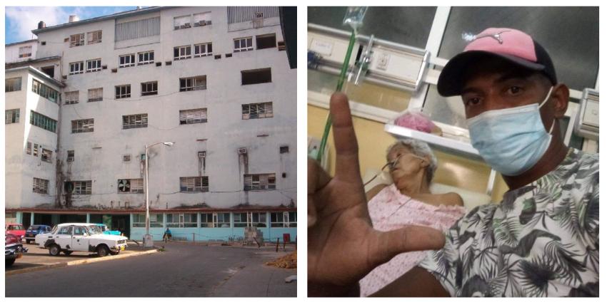 Cubano pasa seis días en una sala de emergencia con su madre, sin baño, sin sondas y sin alimentación: ¿Hasta cuándo Díaz-Canel?