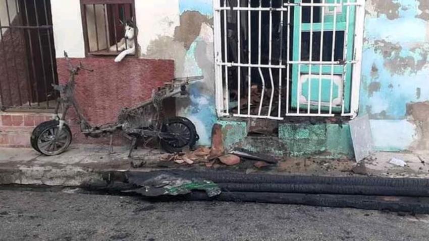 Muere a causa de un distrés respiratorio, el pequeño lesionado por la explosión de una moto eléctrica en Sancti Spíritus