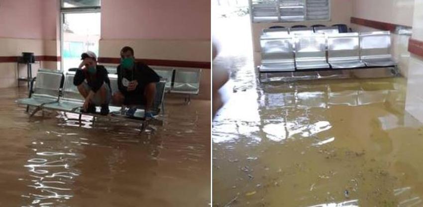 Tormenta local en Holguín deja severas inundaciones en la ciudad, entre ellas en un hospital