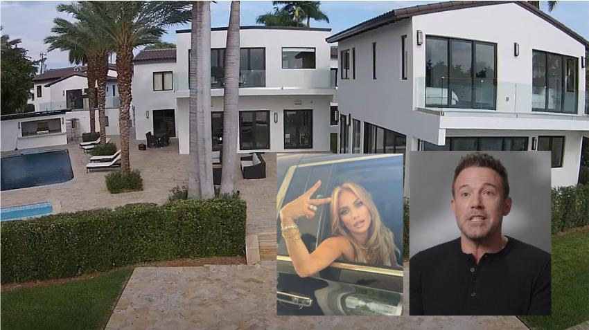 Salen a la luz imágenes de la mansión en Miami Beach donde se están quedando Jennifer Lopez y Ben Affleck