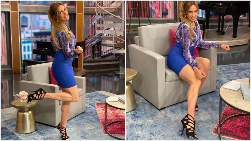Presentadora cubana Lili Estefan presume de piernas en redes sociales