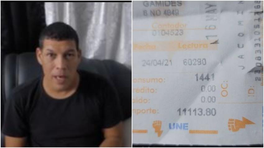 """Humorista cubano Limay Blanco sorprendido por la factura eléctrica: """"Más de 11 mil pesos en un mes"""""""