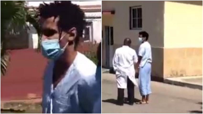 Gobierno de Cuba publica nuevas imágenes de Luis Manuel Otero Alcántara caminando por las afueras del Calixto García