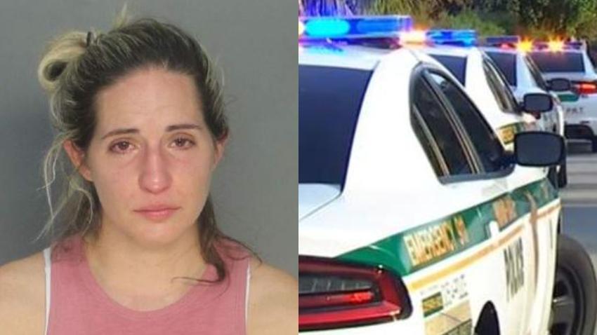 Agente de la policía es arrestada por DUI en el suroeste de Miami-Dade
