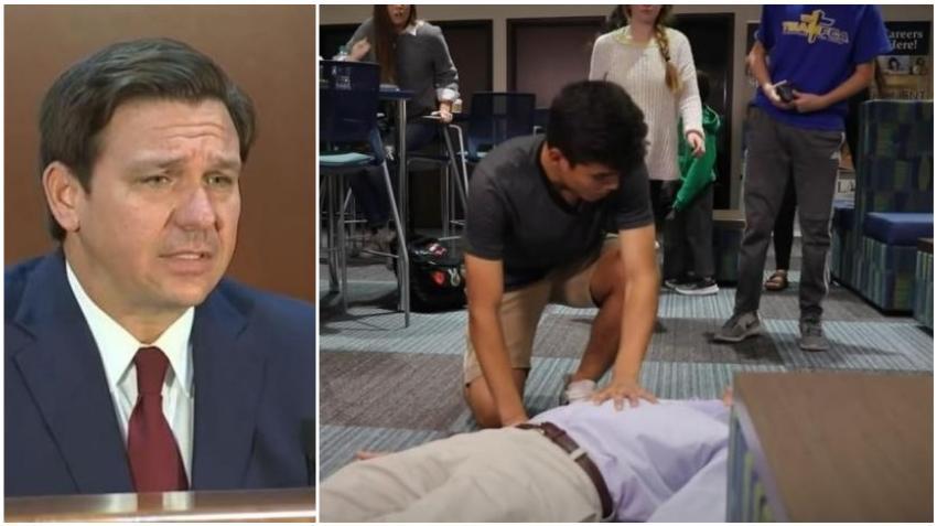 Gobernador de Florida firma ley que exige que los estudiantes de secundaria aprendan primeros auxilios
