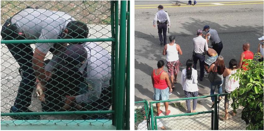 Joven cubano detenido violentamente y multado por tomarse un helado mientras caminaba por un parque en 23 y C, en el Vedado