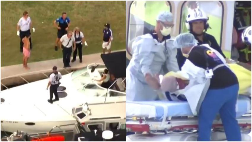 Hombre transportado en helicóptero tras accidente de bote en Miami
