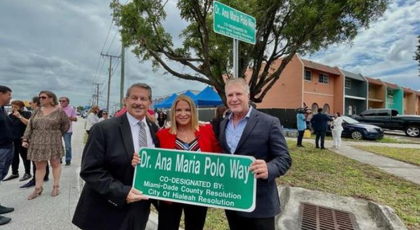 Una calle en Hialeah toma el nombre de la querida cubana, Dra. Ana María Polo