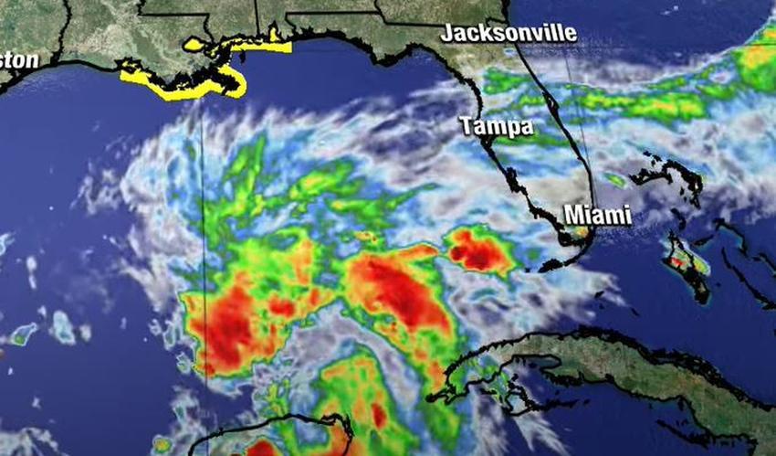Advertencia de tormenta tropical emitida para el norte de la costa del Golfo