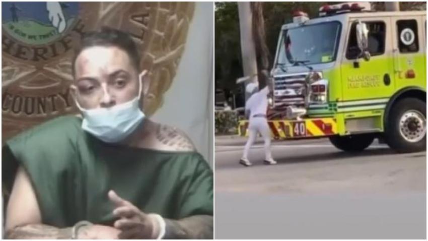 Reguetonero cubano Chucho Flash dice a la jueza que lo estaban persiguiendo para matarlo cuando le dio un batazo al camión de bomberos