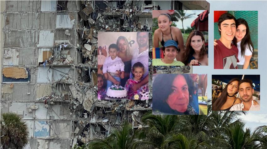 Comienzan a salir imágenes y datos de las personas desaparecidas en el colapso del edificio en Surfside al norte de Miami Beach