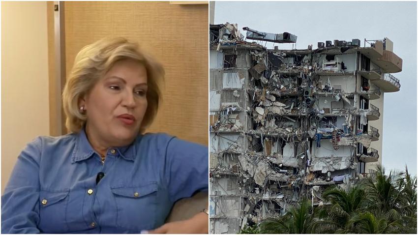 Cubana cuenta cómo sobrevivió al colapso del edificio en Surfside al norte de Miami Beach
