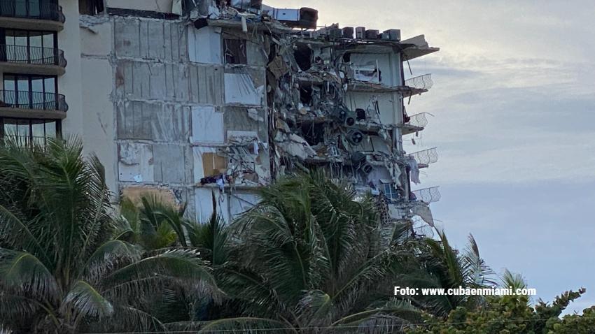 Sube a 159 el número de desaparecidos en el edificio que colapsó en Surfside al norte de Miami Beach