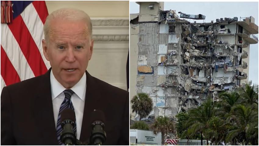 Presidente Biden visitará el área del colapso del edificio en Surfside al norte de Miami Beach