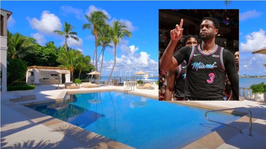 Ex estrella del Miami Heat Dwyane Wade vende su mansión en Miami Beach por 22 millones de dólares