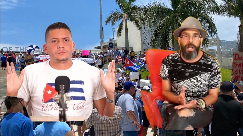 Alexander Otaola y Eliecer Avila chocan tras manifestación en el juego de pelota