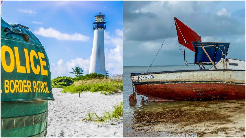 Patrulla Fronteriza detiene a 8 balseros cubanos que llegaron a las costas de la Florida
