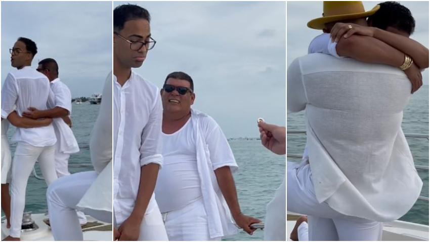 Influencer cubano Pollito Tropical se casa después de la pedida de matrimonio de su novio