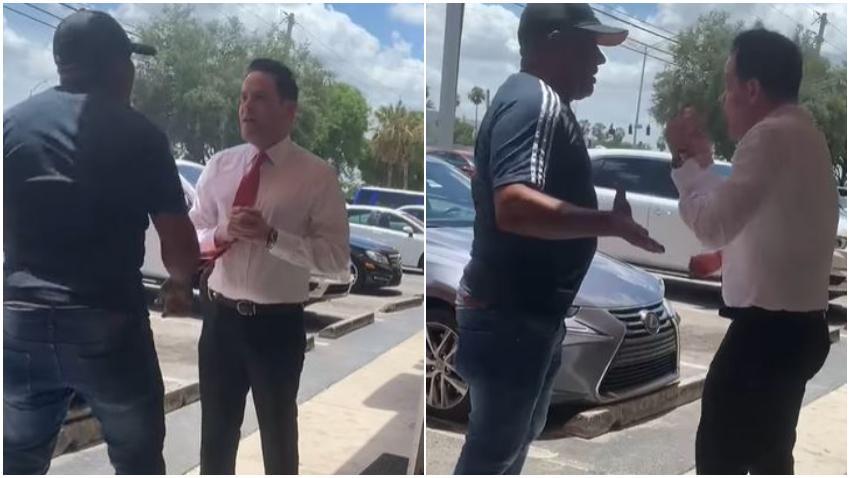 "Activista de ""Puentes de Amor"" acosa a periodista de Daniel Benítez y lo acusa de mentiroso"
