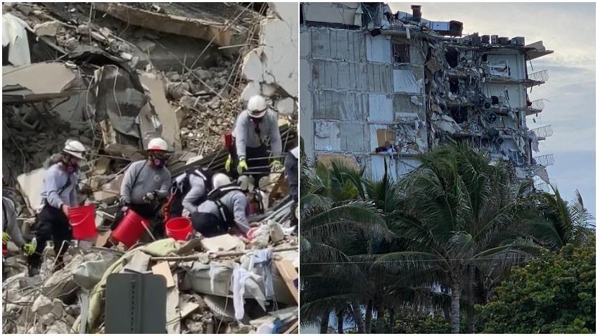Llegan a Miami rescatistas de México e Israel para ayudar en los esfuerzos de rescate