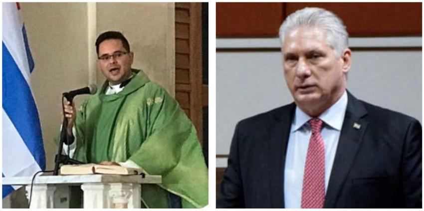 """Joven sacerdote cubano envía contundente mensaje a  Díaz-Canel: """"Soberana vergüenza debería sentir usted"""""""