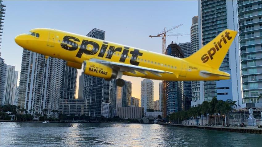 Aerolínea de bajo costo Spirit planea comenzar a volar desde Miami en octubre