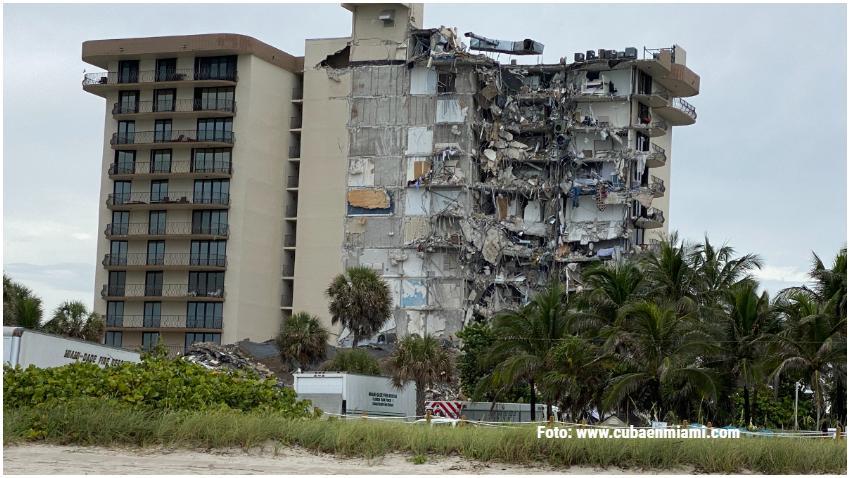 Demolición de estructura en Surfside será entre las 10:00 pm y las 3:00 am
