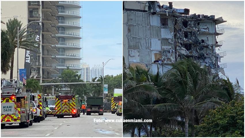 Reporte del 2018 alertaba de grandes daños estructurales en el edificio que colapsó en Surfside al norte de Miami Beach