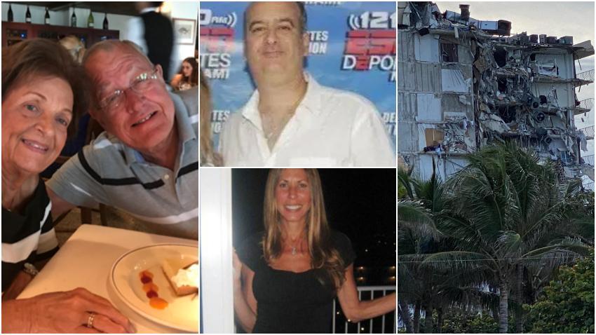 Policía de Miami-Dade da los nombres de 4 de los 5 fallecidos hasta el momento en el colapso del edificio en Surfside al norte de Miami Beach
