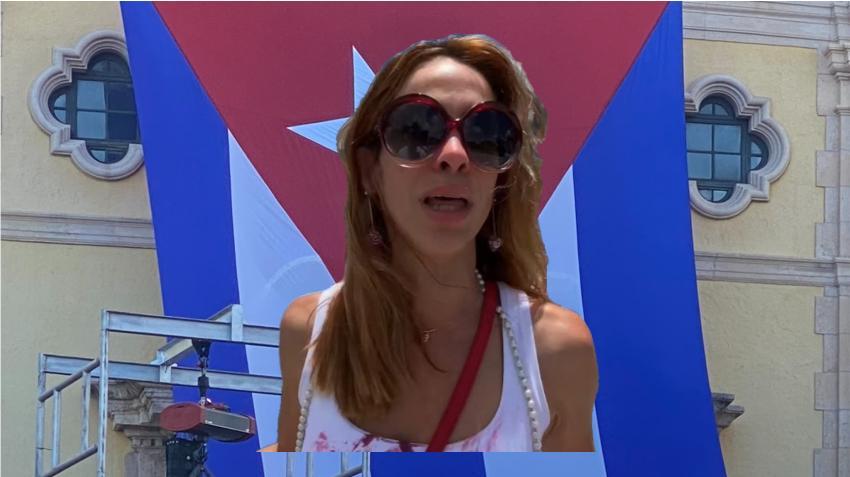 """Actriz cubana Zajaris Fernández: """"Los cubanos estamos pidiendo ayuda"""""""