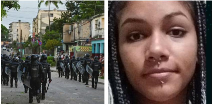 A la espera de un juicio por manifestarse pacíficamente otra joven cubana de 18 años