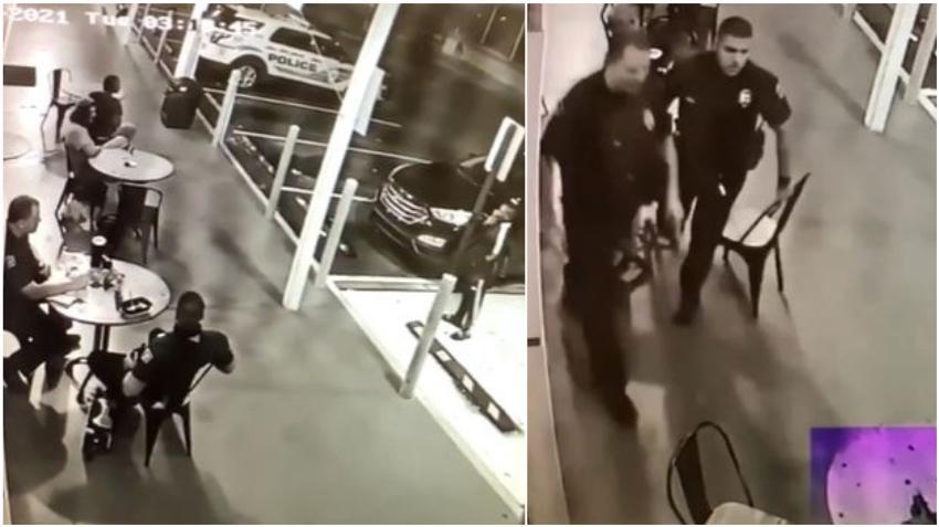 Arrestado un hombre después de apuntar con un arma cargada a dos policías que tomaban un café en Coral Gables