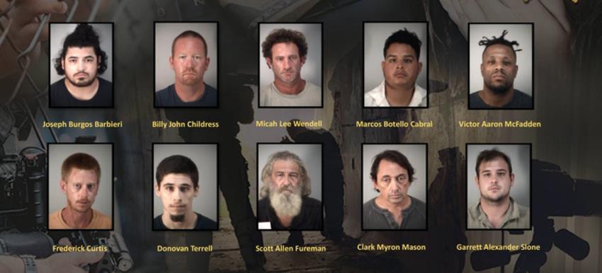 Arrestan en Florida a 10 hombres en una operación para capturar a quienes intentaban contactar con menores por Internet